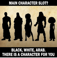 3 slots left. You better grab em while you can. Pledge today: MAIN CHARACTER SLOT?  BLACK, WHITE, ARAB.  THERE IS A CHARACTER FOR YOU 3 slots left. You better grab em while you can. Pledge today