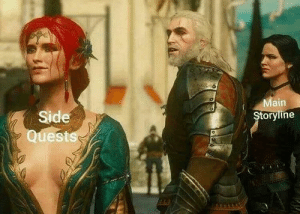 Side, Just, and Main: Main  Side  Quests  Storyline Just lolygagging https://t.co/kB33c3lNkH