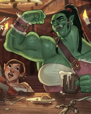 "mainframe-art:  Preview of a piece for @a-destiny-forged zine! I saw a post on tumblr that just said ""big buff orc girls. reblog if you agree."" I agreed so hard I had to draw it.: mainframe-art:  Preview of a piece for @a-destiny-forged zine! I saw a post on tumblr that just said ""big buff orc girls. reblog if you agree."" I agreed so hard I had to draw it."
