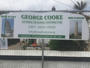 Bear, Dick, and Ireland: MAINTY GEORGE COOKE MADEI IELN  MADE IN IRELAND  GENERAL BUILDING CONTRACTOR  87 2551552  info@howthstone.ie Bear dick punch