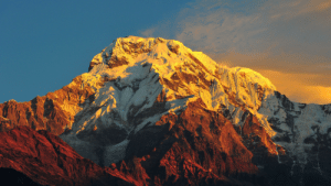 Majestic Mount Everest (8848m) in the morning.: Majestic Mount Everest (8848m) in the morning.
