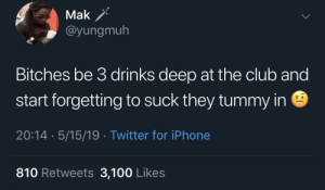 Is that Ursula over there 🤨 (via /r/BlackPeopleTwitter): Mak /  ayungmuh  Bitches be 3 drinks deep at the club and  start forgetting to suck they tummy in  20:14 5/15/19 Twitter for iPhone  810 Retweets 3,100 Likes Is that Ursula over there 🤨 (via /r/BlackPeopleTwitter)