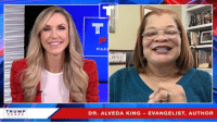 Job, Working, and King: MAK  O VE  TRUM P  PENCE  DR. ALVEDA KING EVANGELIST, AUTHOR My policies are lifting up ALL Americans, and I'm working with great leaders like Dr. Alveda King to get the job done!