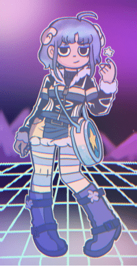 Target, Tumblr, and Aesthetic: makaramiracles: The altramona contest has been finished since like, 2012, but i decided to mess around with the lineart for a bit and then i ended up making some kind of Ram/sleepycore/vaporwave aesthetic Ramona. I put a fair amount of filters on this one as well as messing around in Photomosh to make it look better. I also ended up listening to a lot of vaporwave remixes of songs near the end of making this, and i'm pretty sure it shows. Lineart and character belong to @radiomaru!
