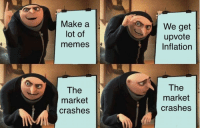"""Memes, Http, and Make A: Make a  lot of  memes  We get  upvote  Inflation  The  market  crashes  The  market  crashes <p>This sub right now: via /r/MemeEconomy <a href=""""http://ift.tt/2DlOEya"""">http://ift.tt/2DlOEya</a></p>"""