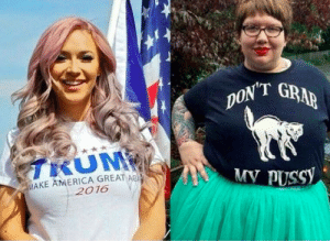 Conservative women vs. liberal women: MAKE AMERICA GREAT A  2016 Conservative women vs. liberal women