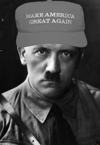 My first foray into the dark realm of MAGA hats.  - Hans: MAKE AMERICA  GREAT AGAIN My first foray into the dark realm of MAGA hats.  - Hans