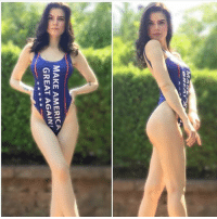 America, Internet, and Memes: MAKE AMERICA  GREAT AGAIN We're breaking the internet with our hot deplorables here at AAF. @brunetteandpolitical rocking it! 🔥🔥🔥🔥🔥 Swimmie available at AAFNation.com