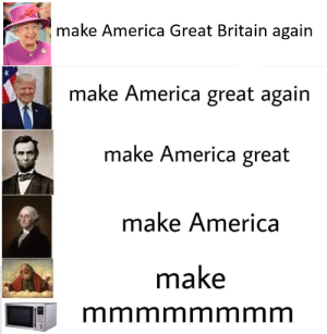 Make America Great Britain again: Make America Great Britain again