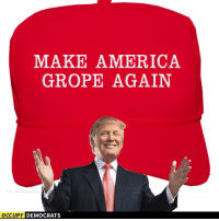 America, Memes, and Image: MAKE AMERICA  GROPE AGAIN  Hashing  OCCUPY  DEMOCRATS There, we fixed his stupid hat.  Image by Occupy Democrats, LIKE our page for more!
