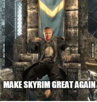 Skyrim: MAKE SKYRIM GREAT AGAIN  VIA gGAG.COM  VIA 9GAG.COM
