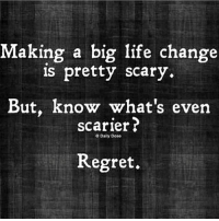 No regret... 📸 @timkarsliyev: Making a big life change  is pretty scary.  But, known what's even  scarier?  Daily Dose  Regret. No regret... 📸 @timkarsliyev