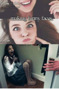 funny face: making funny faces  HORROR 365