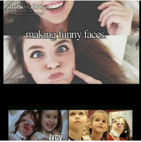 funny face: making funny faces  IVby