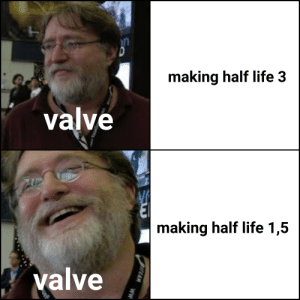 gaben what did you do: making half life 3  valve  making half life 1,5  valve  sTEAM  ww gaben what did you do
