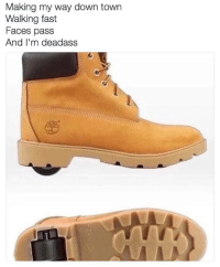 Bruh 😂 https://t.co/cD99s2OIH3: Making my way down town  Walking fast  Faces pass  And I'm deadass Bruh 😂 https://t.co/cD99s2OIH3