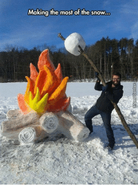 Memes, Snow, and 🤖: Making the most of the snow... Because making a snowman is too mainstream.