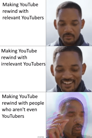 Dank, Memes, and Target: Making YouTube  rewind with  relevant YouTubers  Making YouTube  rewind with  irrelevant YouTubers  Making YouTube  rewind with people  who aren't even  YouTubers This happens every year by Sooperdoge MORE MEMES