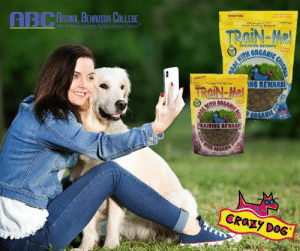 """It's giveaway time! In honor of National Pet Owners Day we want you to share with us a picture of you with your best friend (the canine kind). Comment on this post with a picture of you and your dog for a chance to win some Crazy Dog Organic Training-Treats! Treat yourself and your dog this Spring! Crazy Dog #crazydoginc #giveaway #dogs #dogtraining: MAL BEHAUTOR COLLEGE  Where Animal Lovers Pursue Animal Careers""""  CRazy boe  TRAINING REWARD  NG REWARDS  RAINING REWARD  ORGA  CRaZy DOG It's giveaway time! In honor of National Pet Owners Day we want you to share with us a picture of you with your best friend (the canine kind). Comment on this post with a picture of you and your dog for a chance to win some Crazy Dog Organic Training-Treats! Treat yourself and your dog this Spring! Crazy Dog #crazydoginc #giveaway #dogs #dogtraining"""