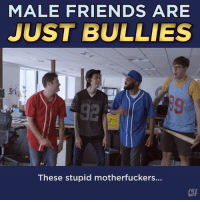 Best Friend, Friends, and Memes: MALE FRIENDS ARE  JUST BULLIES  92  These stupid motherfuckers...  CHH This colossal big time piece of crap loser is the best friend I've ever had.