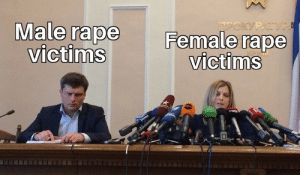 Dank, Memes, and Target: Male rape F  Female  rape  victims  victims Here comes the hate by Cheeli99 MORE MEMES