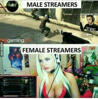 Memes, Ps4, and Xbox: MALE STREAMERS  ACRAM.COM/APPR  gaming  FEMALE STREAMERS  NQUEUE! Gives me an idea Follow me @jaxramse for daily content Check out @cod.place @gamiing.memes @gamersbanter @gamingposts.ig @thecodgamers cod codmeme codmemes callofduty callofdutymeme callofdutymemes gfuel game infinitewarfare IW Rs6 rainbow6siege mwr gaming gamingmemes gamer battlefield battlefield1 gta gtav gta5 gtavonline bo2 bo3 csgo modding xbox xboxone ps4 pc