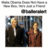 Malia Obama Does Not Have a New Boo, He's Just a Friend-blogged by @thereal__bee ⠀⠀⠀⠀⠀⠀⠀⠀⠀ ⠀⠀⠀⠀⠀⠀⠀⠀⠀ If you thought MaliaObama had a little boy toy, you definitely thought wrong. According to TMZ, the handsome guy spotted hanging out with her in NYC is just a friend. ⠀⠀⠀⠀⠀⠀⠀⠀⠀ ⠀⠀⠀⠀⠀⠀⠀⠀⠀ RobFranklin met Malia at a Men's Fashion Week event in NewYorkCity. He is a graduate of Stanford and is currently working a media job in the BigApple. ⠀⠀⠀⠀⠀⠀⠀⠀⠀ ⠀⠀⠀⠀⠀⠀⠀⠀⠀ Sources tell TMZ that Rob's friends are aware that he's been spending time with Malia, but everyone's getting the same story which is, they're just friends.: Malia Obama Does Not Have a  New Boo, He's Just a Friend  balleralert Malia Obama Does Not Have a New Boo, He's Just a Friend-blogged by @thereal__bee ⠀⠀⠀⠀⠀⠀⠀⠀⠀ ⠀⠀⠀⠀⠀⠀⠀⠀⠀ If you thought MaliaObama had a little boy toy, you definitely thought wrong. According to TMZ, the handsome guy spotted hanging out with her in NYC is just a friend. ⠀⠀⠀⠀⠀⠀⠀⠀⠀ ⠀⠀⠀⠀⠀⠀⠀⠀⠀ RobFranklin met Malia at a Men's Fashion Week event in NewYorkCity. He is a graduate of Stanford and is currently working a media job in the BigApple. ⠀⠀⠀⠀⠀⠀⠀⠀⠀ ⠀⠀⠀⠀⠀⠀⠀⠀⠀ Sources tell TMZ that Rob's friends are aware that he's been spending time with Malia, but everyone's getting the same story which is, they're just friends.