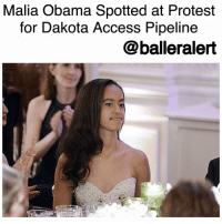 "Memes, Native American, and Malia Obama: Malia Obama Spotted at Protest  for Dakota Access Plpeline  balleralert Malia Obama Spotted at Protest for DakotaAccessPipeline-blogged by @thereal__bee ⠀⠀⠀⠀⠀⠀⠀ ⠀⠀⠀⠀⠀⠀⠀ Former first daughter MaliaObama is definitely down for the cause as she was spotted protesting the Dakota Access Pipeline ( DAPL) on Monday. ⠀⠀⠀⠀⠀⠀⠀ ⠀⠀⠀⠀⠀⠀⠀ A group of about 100 people have been protesting in Park City, Utah. When her father, BarackObama, was in office he ordered a ""temporary stop"" in December to cease construction on the pipeline, which is designed to go through the Standing Rock Indian Reservation and lands held sacred by local Native Americans. ⠀⠀⠀⠀⠀⠀⠀ ⠀⠀⠀⠀⠀⠀⠀ There is also proof that the construction of the pipeline could lead to contaminated water for the reservation. Protesters have continued to protest at Standing Rock since August 2016. ⠀⠀⠀⠀⠀⠀⠀ ⠀⠀⠀⠀⠀⠀⠀ Since President DonaldTrump took office, the pipeline is expected to continue as planned. Trump did sign an executive order on Tuesday to resume construction. ⠀⠀⠀⠀⠀⠀⠀ ⠀⠀⠀⠀⠀⠀⠀ In addition to protesting, Malia also attended a private event with the chairman of the StandingRock Sioux, Dave Archambault. ⠀⠀⠀⠀⠀⠀⠀ ⠀⠀⠀⠀⠀⠀⠀ Actress and activist ShaileneWoodley spotted Malia at the event and said, ""It was amazing to see Malia. I saw her last night when we did the event with Chairman Dave Archambault. And it was incredible to see her there."""