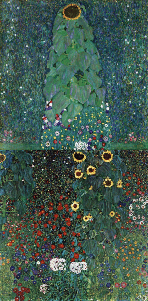 malinconie: Gustav Klimt, The Sunflower, 1907and Farm Garden with Sunflowers, 1913 : malinconie: Gustav Klimt, The Sunflower, 1907and Farm Garden with Sunflowers, 1913