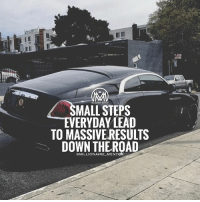 Memes, 🤖, and Lead: MALL STEPS  EVERYDAY LEAD  TO MASSIVE RESULTS  DOWN THEROAD  GMILLIONAIRE MENTOK Small progress is better than no progress. 💯 progress results millionairementor