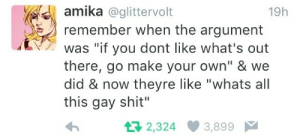 """mallowhoney: jefflaclede:  reblogging because this will never stop being funny   """"Go make your own"""" """"STOP PANDERING TO THE GAYS"""" """"But sir… I am a gays."""" : mallowhoney: jefflaclede:  reblogging because this will never stop being funny   """"Go make your own"""" """"STOP PANDERING TO THE GAYS"""" """"But sir… I am a gays."""""""