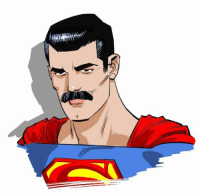 Mama mia! @cameronmstewart tried to do a Mustache Superman sketch and yes, this totally looks like FreddieMercury 😄: Mama mia! @cameronmstewart tried to do a Mustache Superman sketch and yes, this totally looks like FreddieMercury 😄
