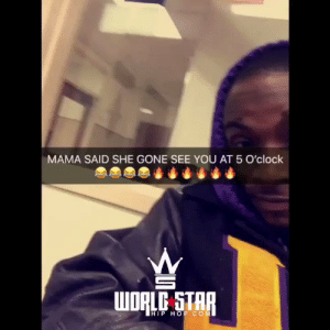 Wshh, Home, and Star: MAMA SAID SHE GONE SEE YOU AT 5 O'clock  WORLE STAR  HIP HOP COM She went home and got ready! 😩😂 #WSHH (via @AcyTremayne) https://t.co/AwBFnWYYUF