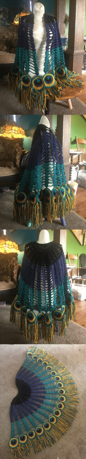 Tumblr, Blog, and Http: mamapluto: artgirldavis: Peacock shawl is finally assembled and complete  Paging @jadedfalling
