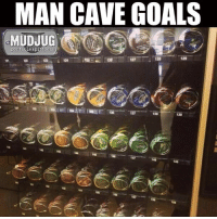 Memes, 🤖, and Portable: MAN CAVE GOALS  MUDJUG  portable spittoons  25 125  i 120  138 We need one for the shop 😂 #MudJug #dip30 #maga