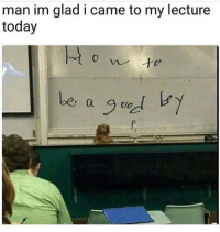 Funny, Lol, and Today: man im glad i came to my lecture  today  0  be,  be oo  Ct Lol