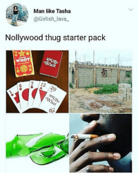 So accurate 😂😂😂 . . nollywood thuglife: Man like Tasha  @Girlish lava  Nollywood thug starter pack  14  WHOT  13  ot  4  7 12  02 So accurate 😂😂😂 . . nollywood thuglife