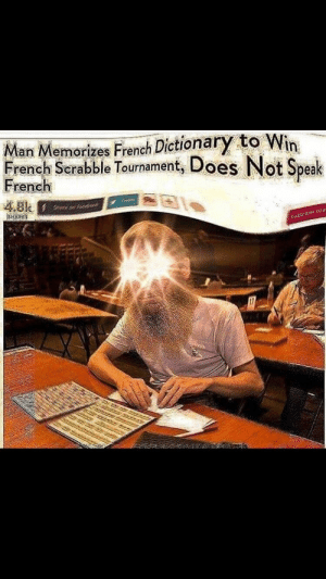 Moi aussi: Man Memorizes French Dictionary to Win  French Scrabble Tournament, Does Not Speak  rench  4.8k Moi aussi