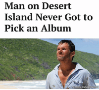 """Memes, I Won, and 🤖: Man on Desert  Island Never Got to  Pick an Album  Full story: thehardtimes-ne """"I fear I won't last much longer. Also, could anyone maybe airdrop a copy of Rocket to Russia by The Ramones?"""""""