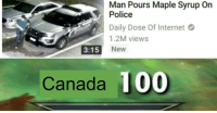 Anaconda, Internet, and Police: Man Pours Maple Syrup On  Police  Daily Dose Of Internet  1.2M views  3:15 New  Canada 100 Madlads.
