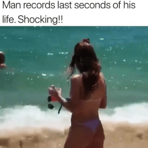 RIP: Man records last seconds of his  life. Shocking!! RIP