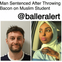 """Ali, Being Alone, and Bad: Man Sentenced After Throwing  Bacon on Muslim Student  @balleralert Man Sentenced After Throwing Bacon on Muslim Student-blogged by @thereal__bee ⠀⠀⠀⠀⠀⠀⠀ ⠀⠀⠀⠀⠀⠀⠀ 17-year-old Muslim student Ikram Ali from Enfield, England, was attacked in early June by a white man who threw raw bacon on her face in an Islamophobic attack. ⠀⠀⠀⠀⠀⠀⠀ ⠀⠀⠀⠀⠀⠀⠀ 36-year old Alex Chivers was responsible for the assault and was sentenced to serve 26 weeks in jail. ⠀⠀⠀⠀⠀⠀⠀ ⠀⠀⠀⠀⠀⠀⠀ When speaking on the incident, Ali explained that she was on her way to a polling station with her mother and sister when Chivers attacked them with raw bacon. She also says that he called her """"scum"""" and said that she """"deserved it."""" ⠀⠀⠀⠀⠀⠀⠀ ⠀⠀⠀⠀⠀⠀⠀ """"I was unable to see and breathe for a while and at this point I couldn't understand why. I was being suffocated. I thought I was dead,"""" Ali told BuzzFeedNews. """"I didn't know what hit me. It was only when the bacon peeled off my face and it fell to the ground, and the male behind me started shouting, 'Bacon, bacon, it's bacon,' that I started to grasp what was happening to me."""" ⠀⠀⠀⠀⠀⠀⠀ ⠀⠀⠀⠀⠀⠀⠀ Ali says Chivers did not do the attack alone. He escaped on a motorcycle with another male. James Payne, a police officer from Enfield Community Safety Unit, said in a statement that the second man, who has not been identified, recorded the attack. ⠀⠀⠀⠀⠀⠀⠀ ⠀⠀⠀⠀⠀⠀⠀ For Ali this is another example of the struggles Muslim people face in the United States. Ali said, """"Islamophobia is real, and it is out there and because of the way Muslim women choose to dress, we're unfortunately a target."""" ⠀⠀⠀⠀⠀⠀⠀ ⠀⠀⠀⠀⠀⠀⠀ Though this experience was traumatic Ali is still optimistic. """"I still choose to believe there's more good out there than bad, and that my hijab will not hinder me in my life,"""" she said."""