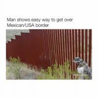 Mexican, Usa, and Easy: Man shows easy way to get over  Mexican/USA border Well that was easy