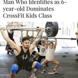 Reddit, Crossfit, and Kids: Man Who Identifies as 6-  year-old Dominates  CrossFit Kids Class Identity as a apache attack helicopter