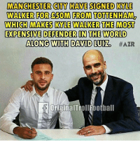 No Dani Alves? No problem!: MANCHESTER CITY HAVE SIGNED KYLE  WALKER FOR 50M FROM TOTTENHAM2  WHICH MAKES KYLE WALKER THE MOST  EXPENSIVE DEFENDER IN THE WORLD  ALONG WITH DAVID LUIZ  OriginalTrollfootball No Dani Alves? No problem!