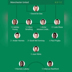 Memes, Manchester United, and Liverpool F.C.: Manchester United  4-3-1-2  1 David De Gea  18 Ashley  Young  23 Luke Shaw  12 Chris  Smalling Nilsson Linde...  2 Victor  21 Ander Herrera  39 Scott McTominay  6 Paul Pogba  8 Juan Mata  9 Romelu Lukaku  10 Marcus Rashford Yak, Inilah Starting XI Manchester United kontra Liverpool! 🔥 Kick-Off beberapa saat lagi Live Beinsports 1 & MNC TV Dilihat dari line-up, siapa yang bakal menang nih?