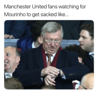 Memes, Manchester United, and United: Manchester United fans watching for  Mourinho to get sacked like.. Will Mourinho get sacked?