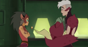 Tumblr, Blog, and Happy: mandareeboo:  Scorpia is the sweetest, gayest character in this already gay show and I just want her to be happy and maybe snuggle with Catra a little