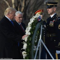 President-elect @realDonaldTrump and Vice President-elect @mike.pence take part in a wreath-laying ceremony at Arlington National Cemetery. Trump45 @arlingtonnatl: MANDEL NGAN/AFP/Getty Images President-elect @realDonaldTrump and Vice President-elect @mike.pence take part in a wreath-laying ceremony at Arlington National Cemetery. Trump45 @arlingtonnatl