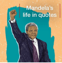 Anaconda, Future, and Life: Mandela's  life in quotes The powerful words of Nelson Mandela live on. It's 100 years to the day since the former South African president was born, so we've taken a look back at some of his most poignant quotes. They're the words that helped make him an inspiration for millions across the word, from his struggle for justice to his hope for humanity's future. Tap the link in our bio for more on his life and legacy. mandela100 nelsonmandela madiba southafrica hope smile quote bbcnews
